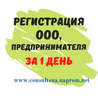 Регистрация ООО, ЧП, ФЛП за 1 день, НДС, Единый налог, Днепр
