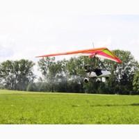 Внесення гербіцидів на пшеницю дельтапланами вертольотами