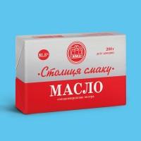 Натуральное масло сливочное ТМ Столица смаку 200г высшего качества