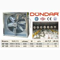 Осевые промышленные настенные вентиляторы DUNDAR в корпусе