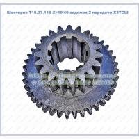Шестерня Т16.37.118 Z=19/40 ведомая 2 передачи ХЗТСШ